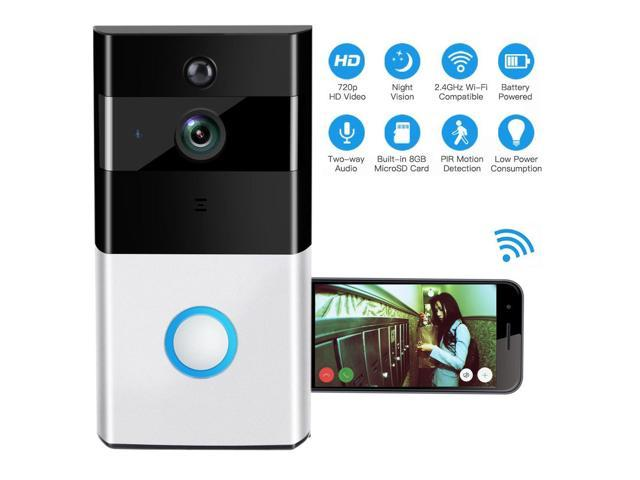 WIFI Video Doorbell, YINXN Greet Smart Doorbell 720P HD Wide-angle Lens  Security Camera with Real-Time 2-Way Talk, Night Vision, PIR Motion  Detection