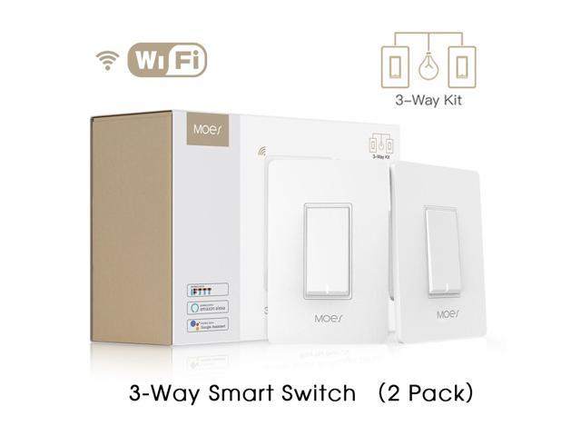 3 Way WiFi Smart Light Switch Light Fan Control APP remote control works  with Alexa and Google Home, No Hub Required - Newegg com