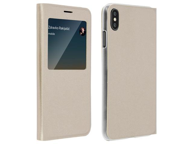 iphone xs flip case with window