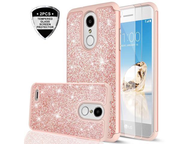 LG Aristo 3 Case, LG Aristo 2/ Tribute Dynasty/Phoenix 4/ Rebel 4/ Aristo 2  Plus/Fortune 2/ Rebel 3 Case w/2PCS Tempered Glass Screen Protector, LeYi