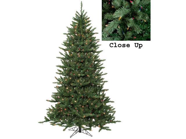 9 Artificial Christmas Tree.9 Pre Lit Natural Frasier Fir Artificial Christmas Tree Multicolor Lights Newegg Com