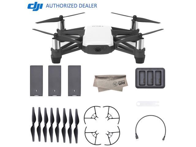 2018 DJI Tello Quadcopter Drone Boost Combo with HD Camera and VR, Comes 3  Batteries, Powered by DJI Technology and Intel 14-Core Processor, Coding