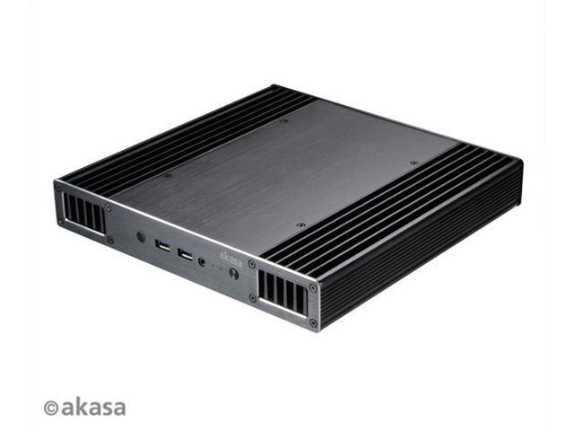 AKASA Plato X8, Low profile fanless case for 8th Generation Intel® NUC   Supports Intel® Core™ i3, i5, i7 processors  (Model Number: A-NUC43-M1B) -