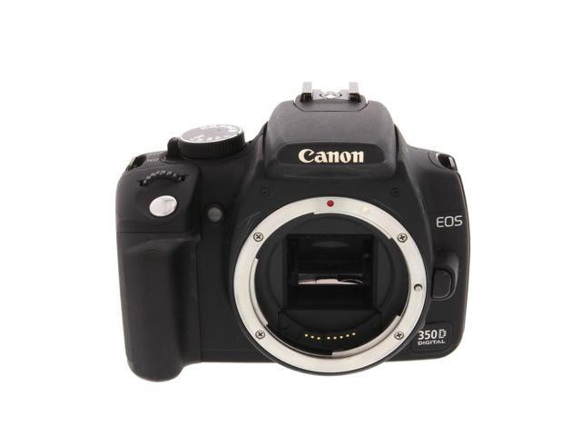 Canon EOS 350D Black (Euro Rebel XT) Digital SLR Camera Body {8 M/P} - With  Battery and Charger - Newegg com