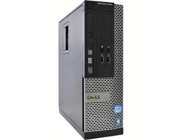 Refurbished: Dell Desktop Computer OptiPlex 3010 Small Form Factor SFF Intel Core i3-3220 (3.30 GHz) 4 GB DDR3 250 GB HDD DVD Windows 7 Pro 64 Bit - OEM