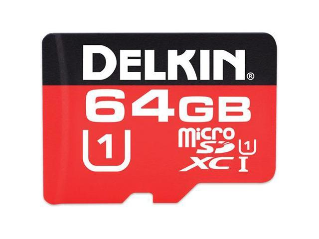 Delkin S264BPH6S-UR500-P CYT 64GB 8p MSDXC r40MB/s w20MB/s Class 10 UHS-I  U1 Micro Secure Digital Extended Capacity Card Bulk