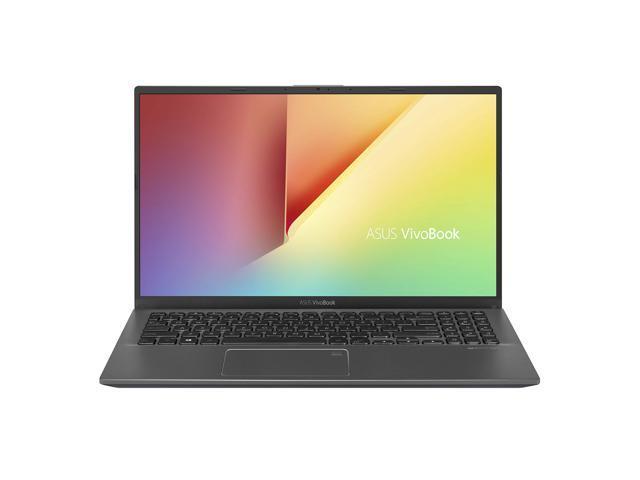 "ASUS VivoBook 15 Thin and Light Laptop, 15.6"" FHD Display, Intel i3-1005G1 CPU, 8GB RAM, 128GB SSD, Backlit Keyboard, Fingerprint, Windows 10 Home in S Mode, Slate Gray (F512JA-AS34)"