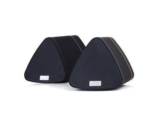August MS515 - Stereo Bluetooth Speaker Pair - Dual Wireless