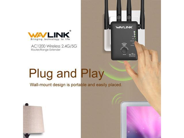 Wavlink AC1200 Dual Band Wifi Repeater/&Router,2.4G/&5G Wireless-N Range Extender
