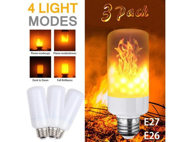 Led Flame Effect.3 Pack Led Flame Effect Simulated Nature Fire Light Bulb E27 5w Decoration Lamp Newegg Com