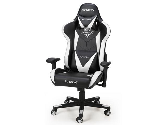 Brilliant Autofull Computer Gaming Chair Adjustable Reclining High Back Pu Leather Swivel Video Game Chair With Headrest And Lumbar Support Ncnpc Chair Design For Home Ncnpcorg