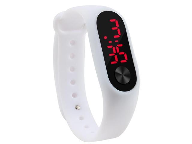 210ae6ef5 Fashion Outdoor Simple Sports Red LED Digital Bracelet Watch Men Women  Colorful Silicone Watches Kids Children Wristwatch Gift