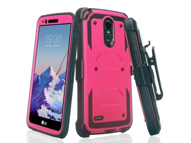 Compatible for LG Stylo 4 Case, LG Stylus 4 Case, LG Q Stylus Case, Air  Cushion Corners Shockproof Case with Belt Clip Holster & Built-in Screen