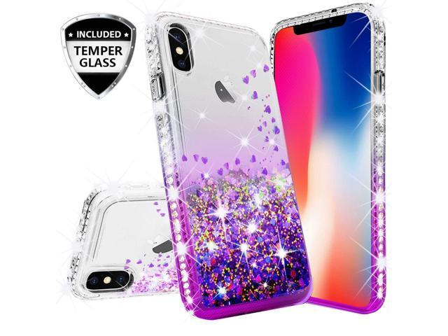 glitter liquid iphone xs case