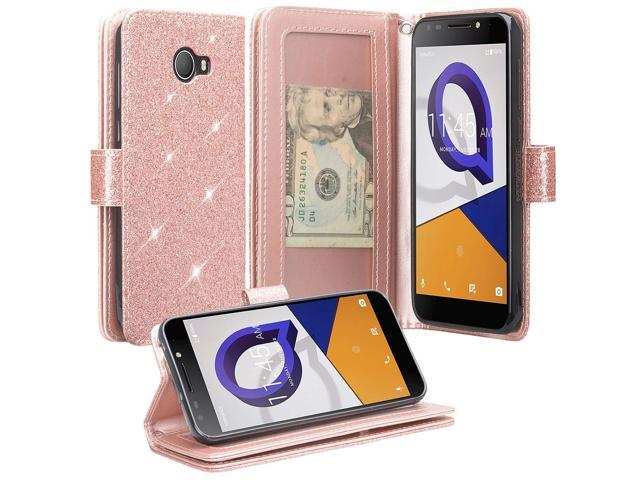 check out ae420 fbae8 Compatible for Jitterbug Smart2 Case, SOGA PU Leather Magnetic Flip with  Wrist Strap Wallet Phone Cover Jitterbug Smart 2 Phone Case (Rose Gold ...