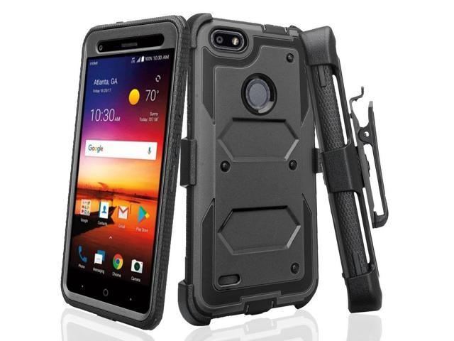 save off f71e3 f87b8 SOGA Phone Cover Compatible for ZTE Blade X Z965 / ZTE Blade Force N9517  Case, [TriGuard] Shockproof Rugged Hybrid Armor Case Cover with Belt Clip  ...