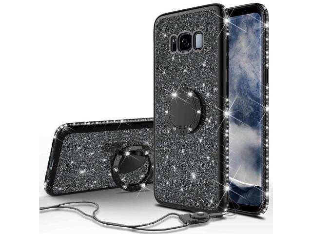 official photos 1ba0b 8c4c5 SOGA Diamond Bling Glitter Cute Phone Case with Kickstand Compatible for  Samsung Galaxy S8 Plus Case,Rhinestone Bumper Slim with Ring Stand Girls ...