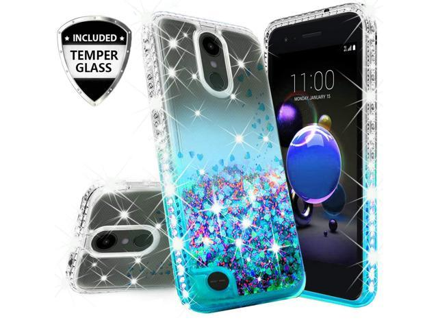 buy online 5577c 86b33 Compatible for LG K30 X410/LG Premier Pro LTE/LG K10 2018 MS425 Case, with  [Tempered Glass Screen Protector] SOGA Diamond Liquid Quicksand Cover Cute  ...