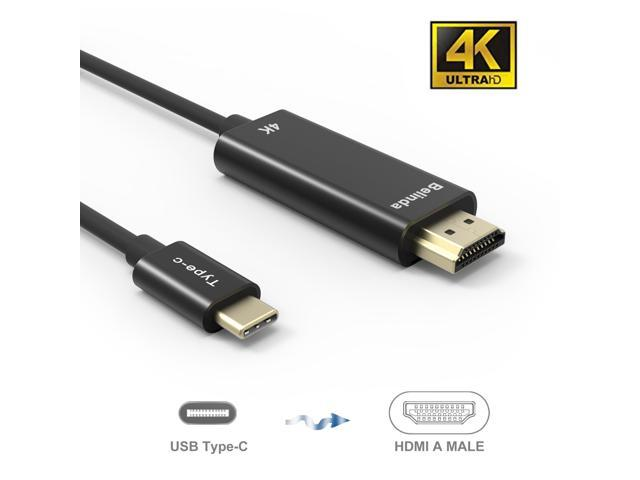 USB C to HDMI Cable(4K@60Hz), uni USB Type-C to HDMI Cable