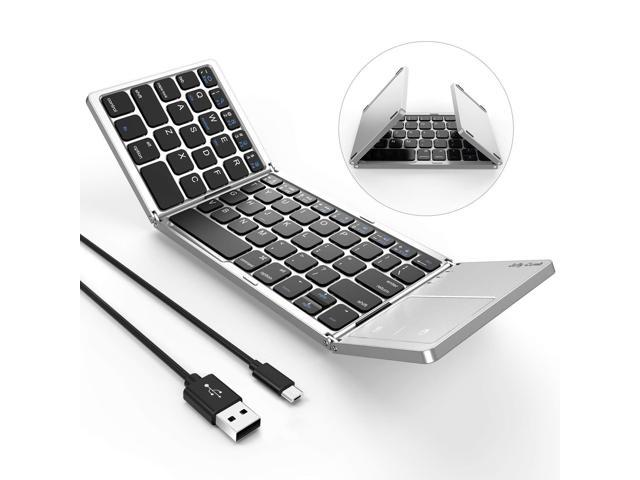 492887166ba Foldable Bluetooth Keyboard, Jelly Comb B003B Dual Mode USB Wired & Bluetooth  Keyboard with Touchpad