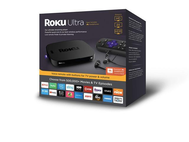 Roku Ultra | HD/4K/HDR Streaming Media PlayerVoice Remote, Remote Finder &USB.Now includesPremium JBL Headphones. (2018)