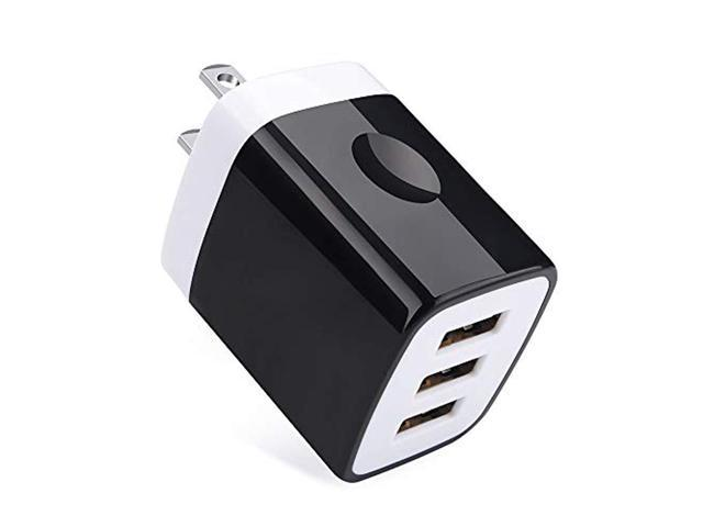 Charging Block,3 1A 3-Muti Port USB Charger Cube Power Plug Charging Brick  Box Base Compatible for iPhone XR/XS/XS MAX/X/8/7/6