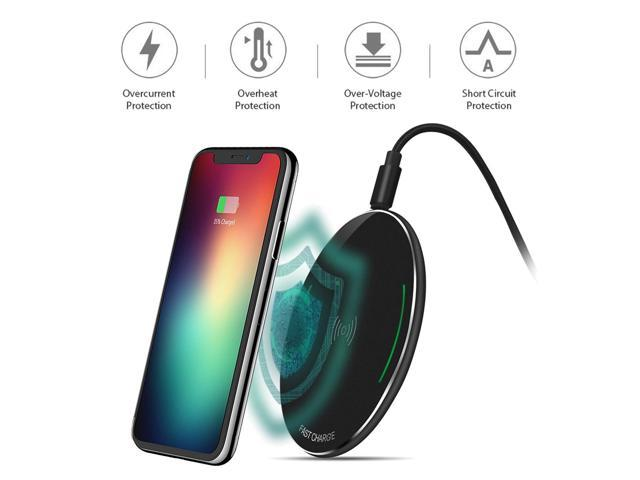 size 40 c7c3a cf7b5 Qi Fast Wireless Charging Pad for iPhone Xs Max/XS/XR/X All Qi-Enabled  Devices - Newegg.com