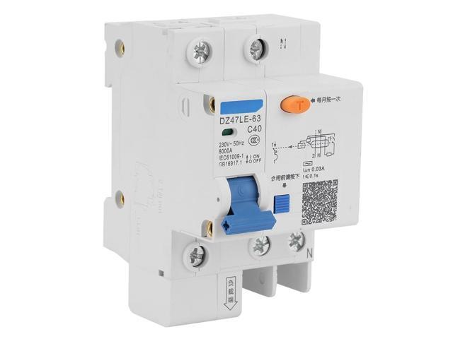 DZ47LE-50 1P+N C40A 40A 230V Earth Leakage Protection Circuit Breaker