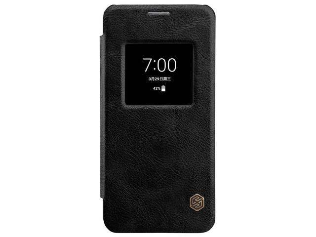 free shipping 8ed3b a8673 Top Brand Luxury Back Flip Cover Leather Case with Screen View Window for  LG G6 ( Black ) - Premium High Quality Original Ultrathin Phone Sleeve ...