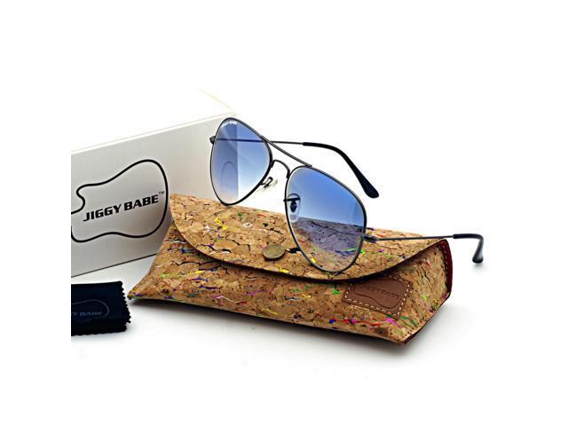 Case Gradient WomenHigh Quality Sun Top With Designer Retro Large Brand Vintage Flash Glasses Name Metal 3025 Men Sunglasses Uv400 Pilot Aviator vYgfy7b6