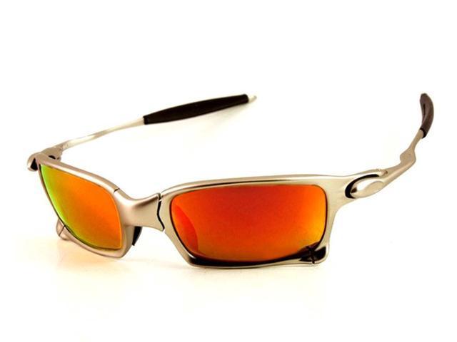347e1d7852 Diseñador de marca superior X vidrios de cielo cuadrado polarizado UV400 de  aluminio con metal cristalizado