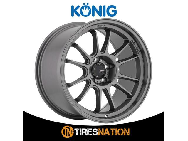 One 17x9 Konig Hypergram 5x114.3 40 Matte Grey Wheel
