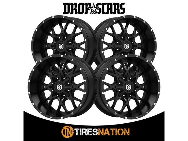Dropstars 645B Wheel with Black Finish 20x12//8x6.5, -44mm Offset