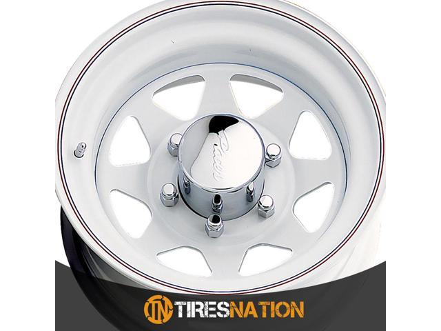 15X6 Pacer 310W White Spoke  Steel Wheel Rim +00 5X4.75 Qty 1