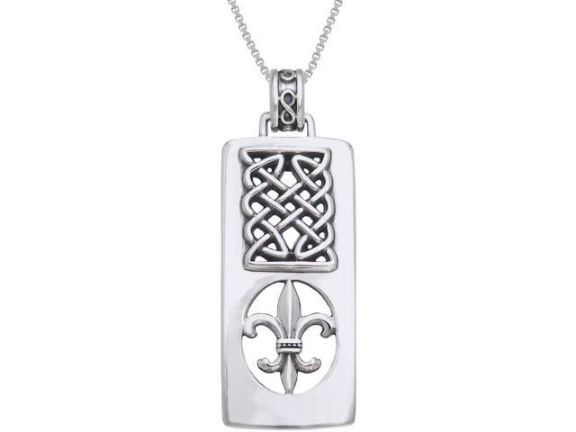 Jewelry Trends Sterling Silver Celtic Heart Shaped Pendant