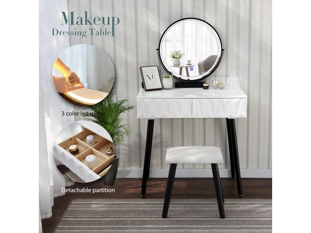 Makeup Vanity Dressing Table Wood Desk