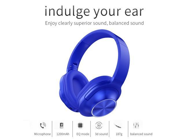 DiPRO Acoustics BH-A18 Wireless Bluetooth Headphones with Build in 6 Mode  EQ Support TF with FM and 15 Play hours - Newegg com