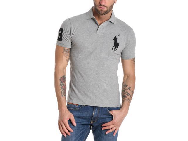 Cotton Ralph Shirt Lauren Men's 688970002 Grey Polo w8OnPkN0X