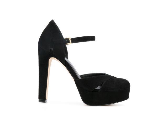 b7538920853 michael by michael kors women s 40t7wnhs2s001 black suede heels