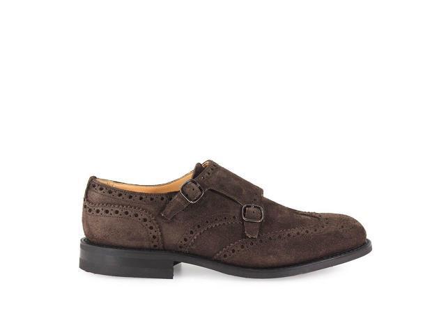 Church S Men S Eoc0119vef0aev Brown Suede Monk Strap Shoes