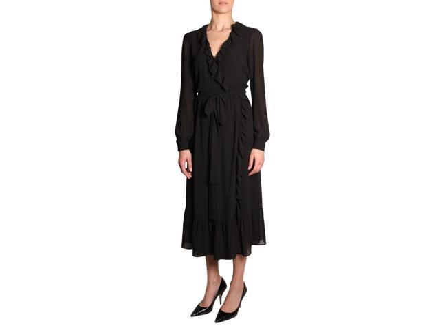 Mf88y8z7r3001 Negro Poliéster Vestido Michael Por Michael Kors Mujer Neweggcom