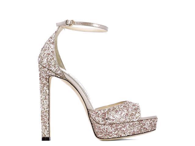 f637d9dce603 jimmy choo women s pattie130aghrose pink glitter sandals