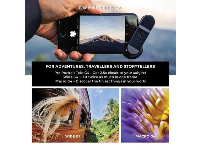 iPad and All Camera Phone Models Phone Lenses by Black Eye || Travel Kit G4 Lens Compatible with iPhone Samsung Galaxy