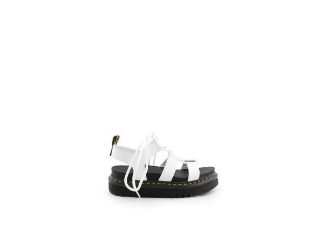 DR. MARTENS WOMEN'S 24641100 WHITE LEATHER SANDALS