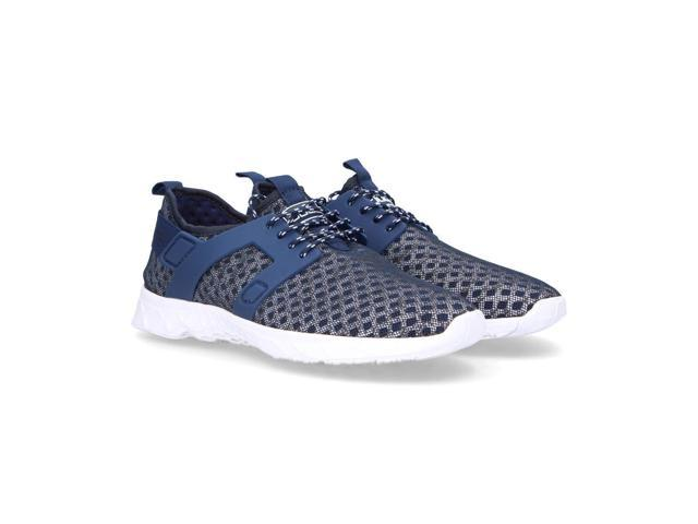 Hey Dude Mens Mistralblue Blue Fabric Sneakers