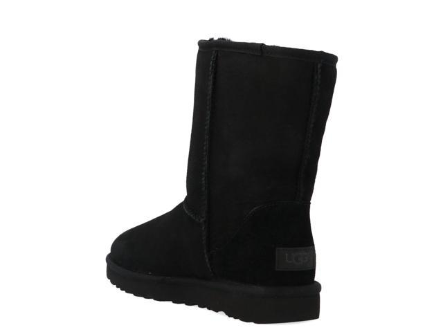 UGG WOMEN'S UGSCLSBK1016223W BLACK LEATHER ANKLE BOOTS