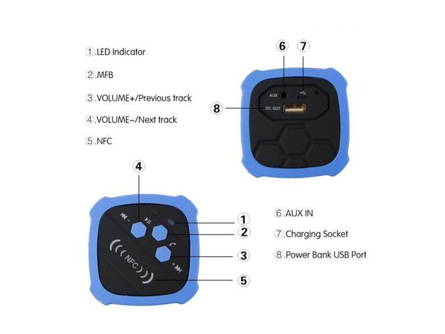 Bluetooth Speakers 4 0 Stereo Sound Wireless Waterproof Speakers Support  NFC - Newegg com