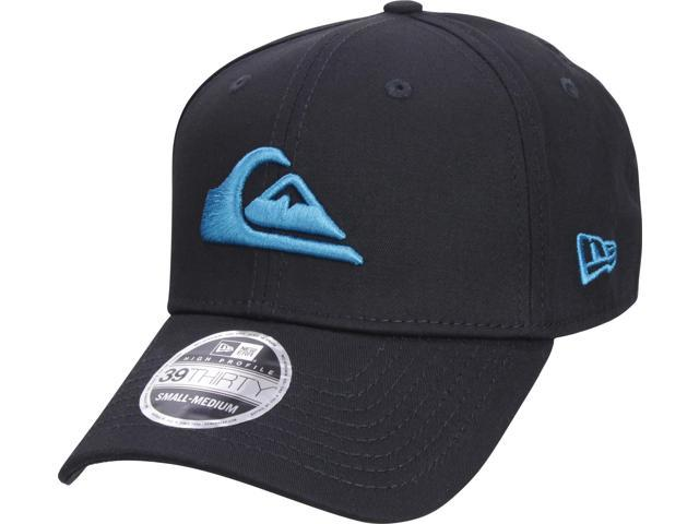 size 40 1300d 25916 Quiksilver Mens New Era 3930 Mountain   Wave Stretchfit Hat - Black Blue - S