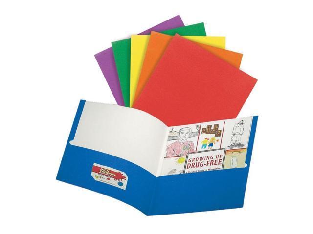 Office Depot® Brand 2-Pocket Paper Portfolios, 8 1/2
