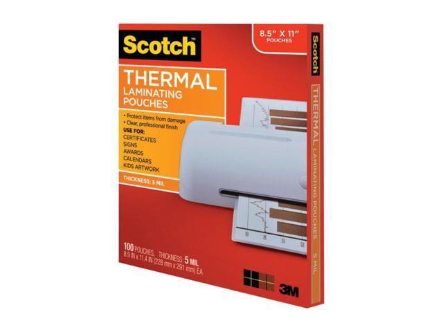 5 mil 7 1//4 x 5 3//8 Scotch Photo size thermal laminating pouches 20//pack
